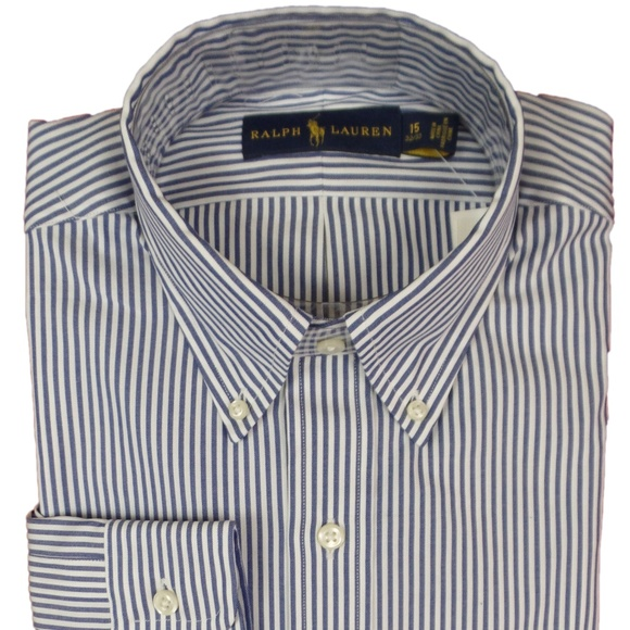 Polo Ralph Lauren Men/'s Slim Fit Dress Shirt Button Down Spread Collar Pony Logo